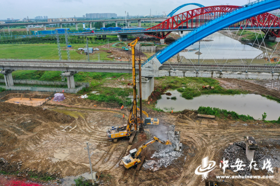 """""""引江济淮""""最后一处铁路改建工程正式开工"""